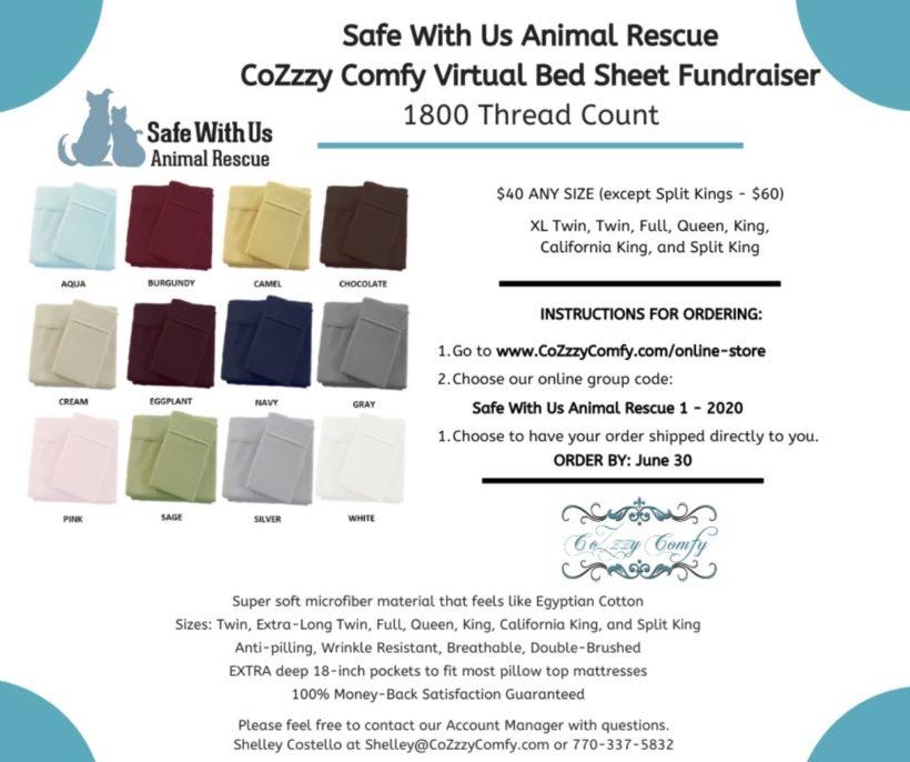 Cozzzy Comfy ben linen fundraiser!